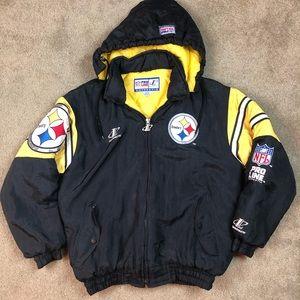 '80s Pittsburg Steelers LogoAthletic Jacket